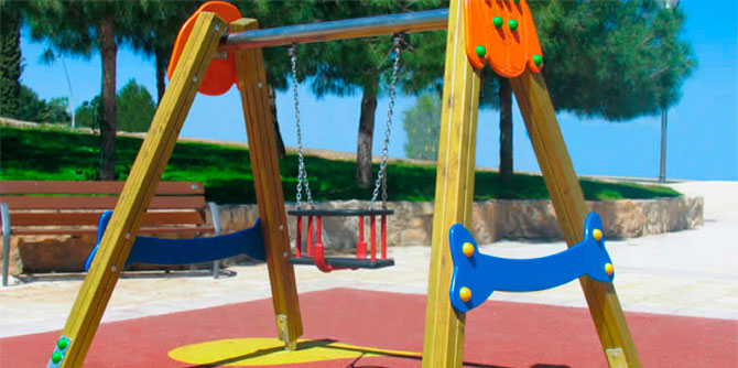 Columpios para parques infantiles aunor sl for Columpios infantiles